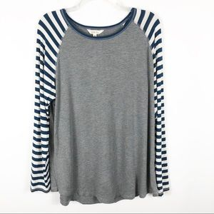 Matilda Jane Grey and Navy Striped Long Sleeve XL